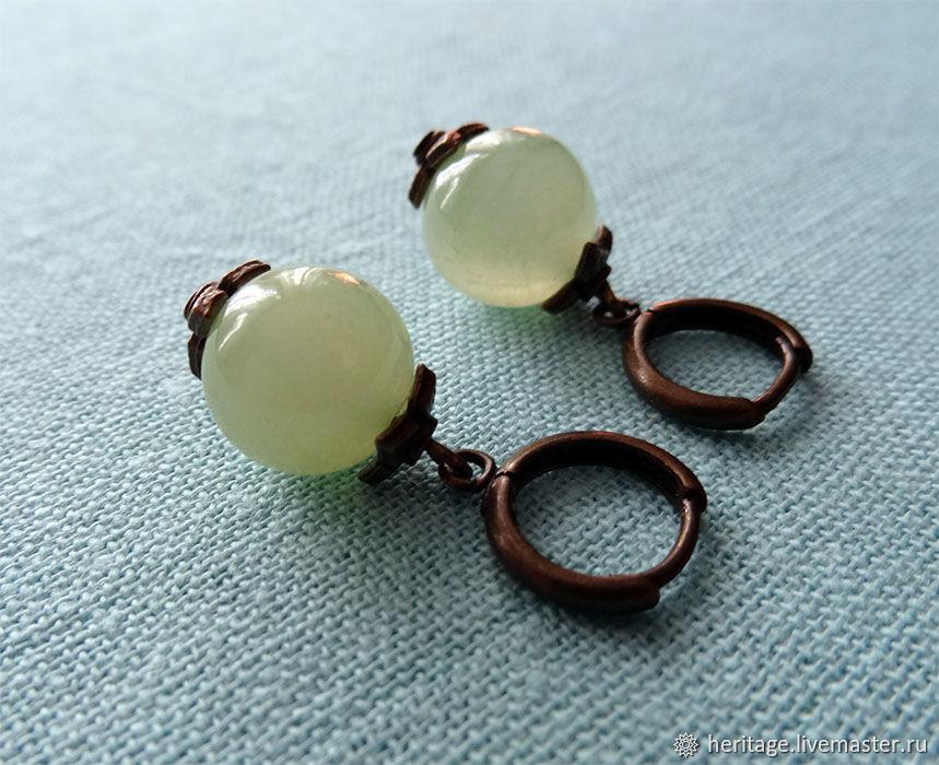 Onyx earrings, Earrings, Moscow,  Фото №1