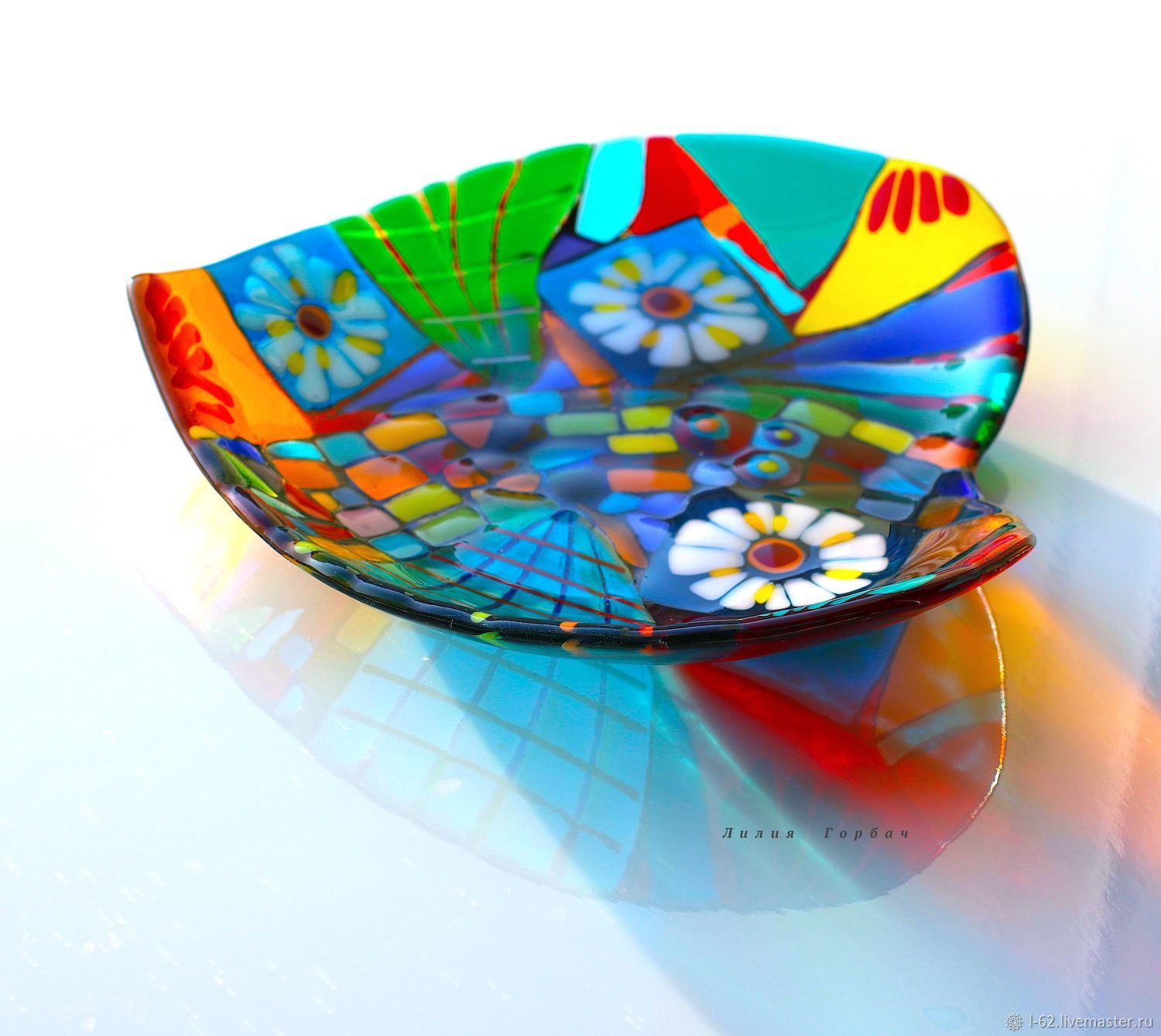 fusing, glass path To the heart, Plates, Rostov-on-Don,  Фото №1