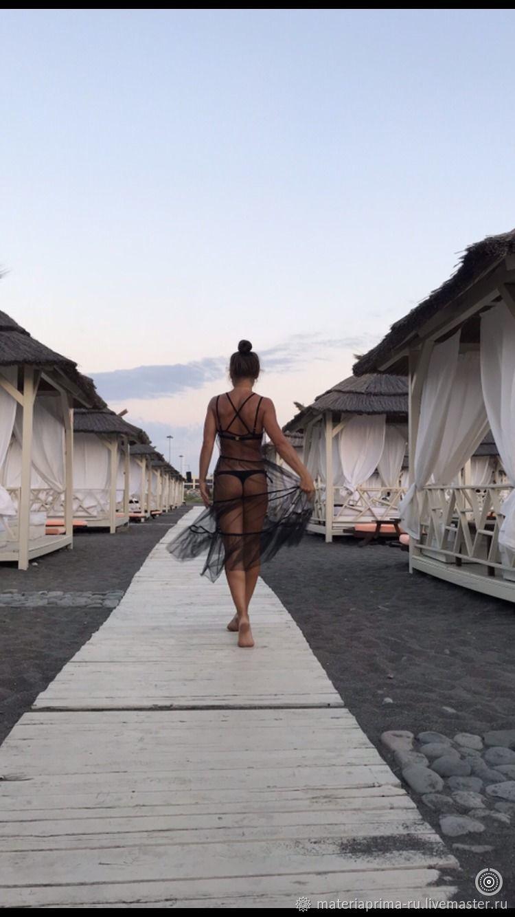 платье-сетка из фатина ( Италия), пляжное , будуарное, Платья, Москва,  Фото №1
