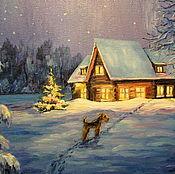 Картины и панно ручной работы. Ярмарка Мастеров - ручная работа Новогодний вечер. Handmade.