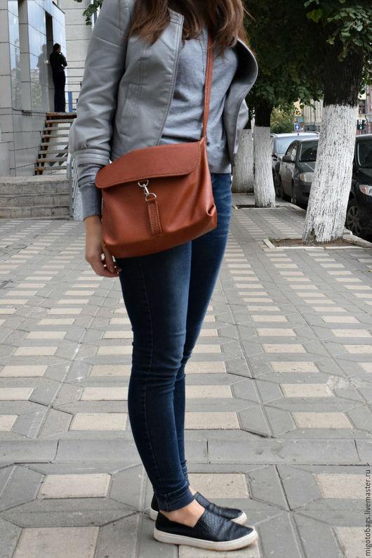 Женские сумки ручной работы. Ярмарка Мастеров - ручная работа. Купить коричневая сумка из кожи женская ручной работы. Handmade.