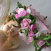 Работы для детей, handmade. Livemaster - original item Pink and white headband. Handmade.