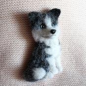 Украшения handmade. Livemaster - original item Husky brooch made of wool. Handmade.