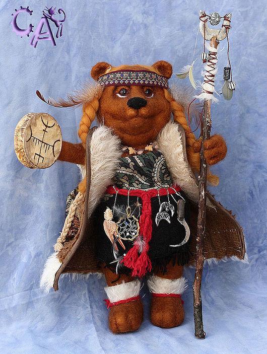 Коллекционные куклы ручной работы. Ярмарка Мастеров - ручная работа. Купить Медведица Шаманка - тотемное животное. Handmade. Медведь