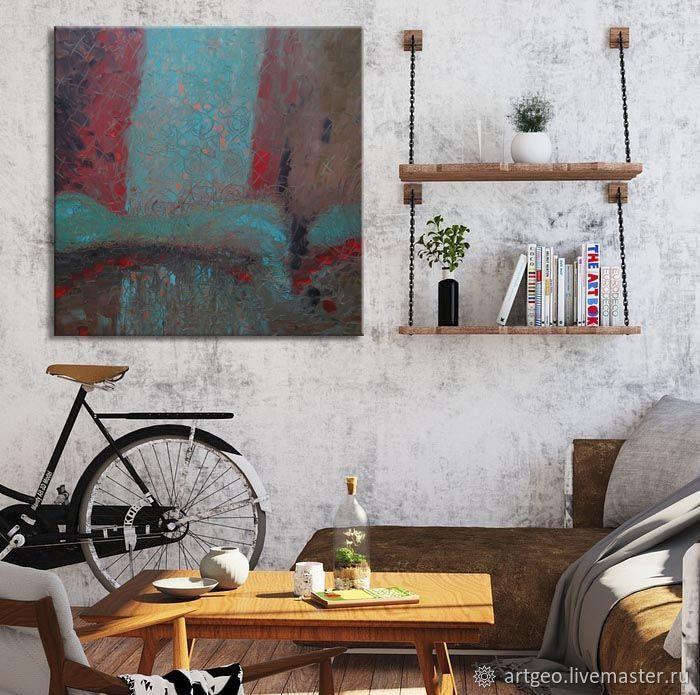 """""""Утренний сон"""" 90х90 см большая абстрактная картина лофт, Картины, Санкт-Петербург,  Фото №1"""