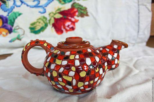 """Чайники, кофейники ручной работы. Ярмарка Мастеров - ручная работа. Купить чайник заварочный """" Прощай Гауди"""". Handmade. Разноцветный"""
