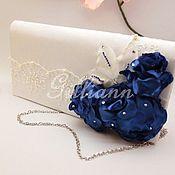 """Свадебный салон ручной работы. Ярмарка Мастеров - ручная работа Свадебная сумочка-клатч """"Карлин-нави"""". Handmade."""