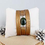Украшения handmade. Livemaster - original item Fashion bracelet leather gold of the Incas. Handmade.