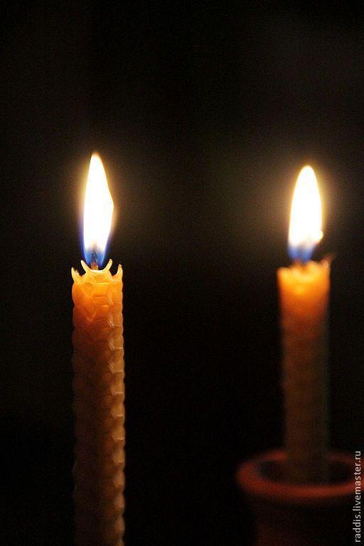 Свечи ручной работы. Ярмарка Мастеров - ручная работа. Купить Натуральные свечи.. Handmade. Желтый, восковая свеча, воск
