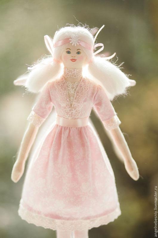 Куклы Тильды ручной работы. Ярмарка Мастеров - ручная работа. Купить Ангел в розовом. Handmade. Бледно-розовый, для девушки