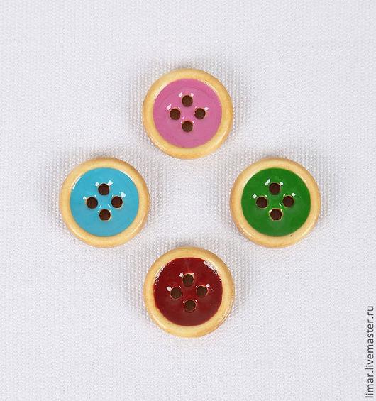 Шитье ручной работы. Ярмарка Мастеров - ручная работа. Купить Пуговицы 18 мм,  4 цвета. Handmade. Пуговицы, пуговица