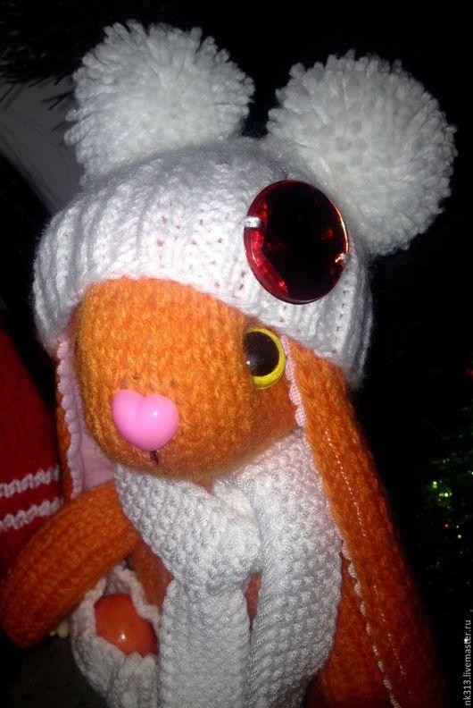 """Игрушки животные, ручной работы. Ярмарка Мастеров - ручная работа. Купить Зайка """"Мандарин"""". Игрушка.. Handmade. Оранжевый, заяц, подарок"""
