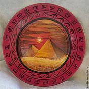 """Посуда ручной работы. Ярмарка Мастеров - ручная работа Декоративная тарелка """"Великие Пирамиды"""". Handmade."""
