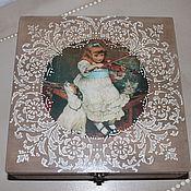Для дома и интерьера ручной работы. Ярмарка Мастеров - ручная работа шкатулка для чая. Handmade.