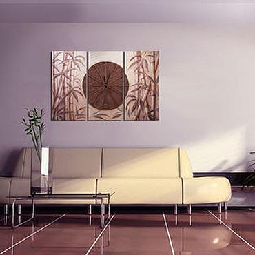 """Для дома и интерьера ручной работы. Ярмарка Мастеров - ручная работа """"Время тишины"""" часы - коллаж. Handmade."""