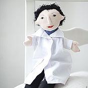 """Куклы и игрушки ручной работы. Ярмарка Мастеров - ручная работа Театральная кукла на руку """"Заведующая поликлиникой"""". Handmade."""