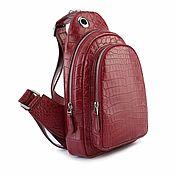 Сумки и аксессуары handmade. Livemaster - original item Crossbody bag made of crocodile skin, unisex.. Handmade.