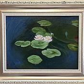 Картины и панно handmade. Livemaster - original item Pictures: Oil painting.Nenuphars. Handmade.