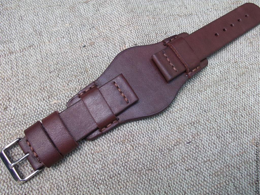 Ремень для часов кожаный ручная работа ремень мужской красный черный