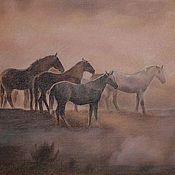 Картины и панно ручной работы. Ярмарка Мастеров - ручная работа в утреннем тумане. Handmade.