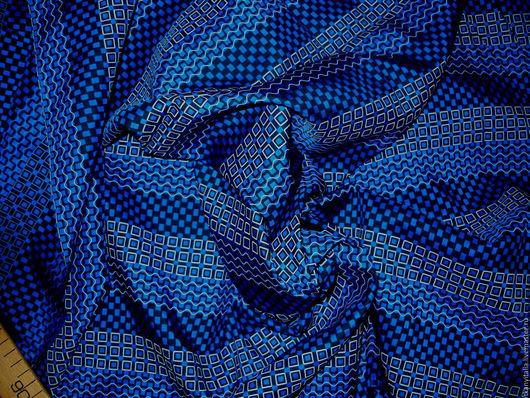 Шитье ручной работы. Ярмарка Мастеров - ручная работа. Купить Скидка 10%.Шелк натуральный 100% (Италия). Handmade. Синий