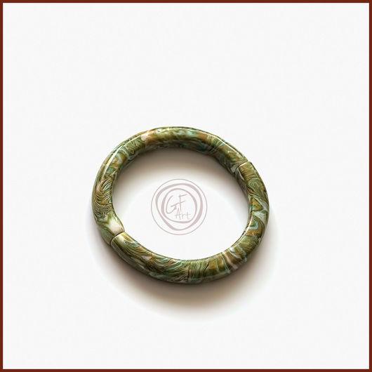 Браслеты ручной работы. Ярмарка Мастеров - ручная работа. Купить Браслет на магните зелёный имитация камня. Handmade. Gfart