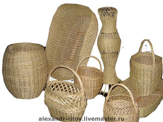 Корзины, коробы ручной работы. Ярмарка Мастеров - ручная работа. Купить плетеные изделия. Handmade. Бежевый, плетеный диван