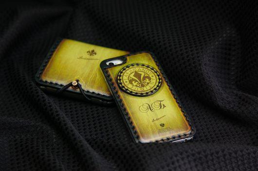 Для телефонов ручной работы. Ярмарка Мастеров - ручная работа. Купить Чехол-бампер для iPhone 7/7plus/5s/6s/6plus из кожи ручной работы №117. Handmade.