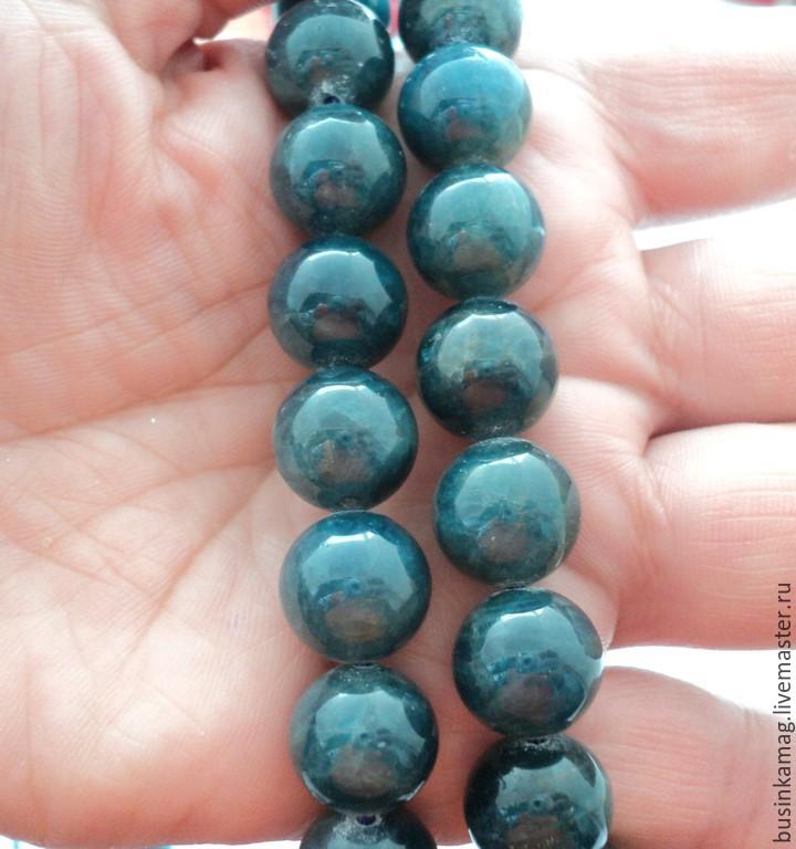 Natural Apatite smooth beads 12mm, Beads1, Zheleznodorozhny,  Фото №1