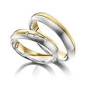 Свадебный салон ручной работы. Ярмарка Мастеров - ручная работа Обручальные кольца Combined 17-049 NEW. Handmade.