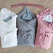 Одежда детская handmade. Livemaster - original item Muslin extract envelope. Handmade.