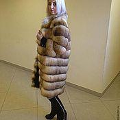 Одежда handmade. Livemaster - original item Fox fur coat black suede. Handmade.