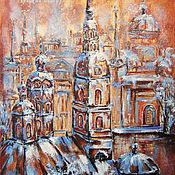 Картины и панно handmade. Livemaster - original item Oil painting of the CITY, WHICH is NOT. Handmade.