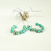 Украшения handmade. Livemaster - original item Earrings-loop with turquoise, turquoise earrings boho long earrings. Handmade.