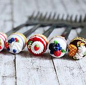 Посуда ручной работы. Ярмарка Мастеров - ручная работа Десертные вилки со сладостями. Handmade.