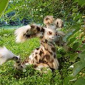 Куклы и игрушки ручной работы. Ярмарка Мастеров - ручная работа Жирафик, жирафенок, pose able doll, игрушка. Handmade.