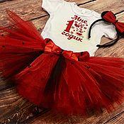 Комплекты одежды ручной работы. Ярмарка Мастеров - ручная работа Праздничный комплект «мне 1 годик» в стиле Минни Маус. Handmade.