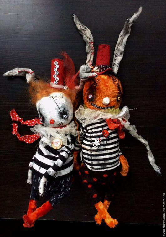 Мишки Тедди ручной работы. Ярмарка Мастеров - ручная работа. Купить Герман и Бабайка. Handmade. Тедди, черный, белый кролик