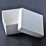 Материалы для творчества ручной работы. Ярмарка Мастеров - ручная работа Коробка 9х9х5см, крышка-дно, белая. Handmade.