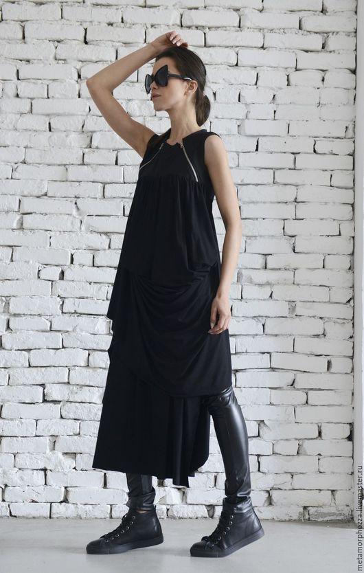 Кофты и свитера ручной работы. Ярмарка Мастеров - ручная работа. Купить Летнее платье, черная туника. Handmade. Черный