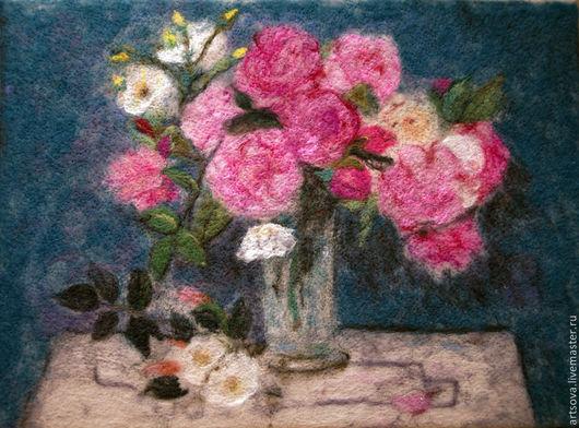 Картины цветов ручной работы. Ярмарка Мастеров - ручная работа. Купить Весенний букет. Handmade. Розовый, подарок, подарок женщине