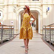 Одежда ручной работы. Ярмарка Мастеров - ручная работа Платье шелковое. Handmade.