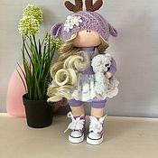 Тыквоголовка ручной работы. Ярмарка Мастеров - ручная работа Текстильная кукла ручной работы оленёнок. Handmade.