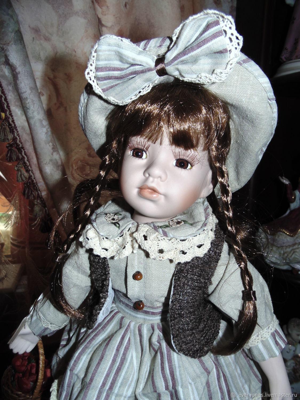 Винтаж: Фарфоровая коллекционная кукла, Винтажные куклы, Москва, Фото №1
