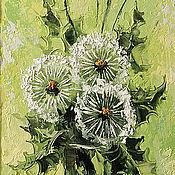 Картины и панно handmade. Livemaster - original item meadow dandelions. Handmade.