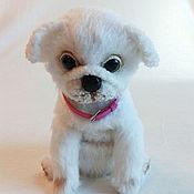 Stuffed Toys handmade. Livemaster - original item Dog pug white. Handmade.