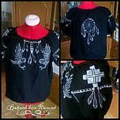 Blouses handmade. Livemaster - original item Embroidered shirt ZhR3-002. Handmade.