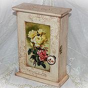 """Для дома и интерьера ручной работы. Ярмарка Мастеров - ручная работа Ключница """"Старинные розы"""". Handmade."""