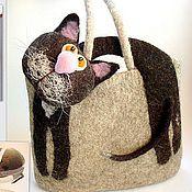 Сумки и аксессуары ручной работы. Ярмарка Мастеров - ручная работа СумКотэ - гибрид кота и сумки. Handmade.
