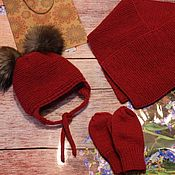 Аксессуары handmade. Livemaster - original item Knit kit. Knitted hat. Knitted scarf.. Handmade.